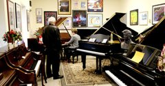 piano showroom at john j zeiner and sons
